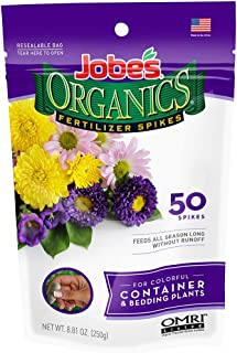 product image for Jobe's Organics Container & Bedding Plant Fertilizer Spikes, 50 Spikes