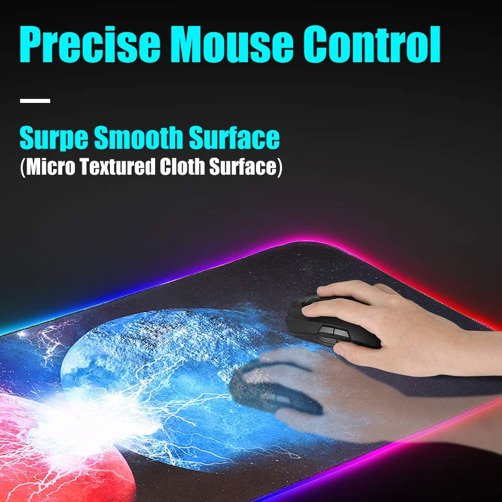 Large Gaming Mouse Pad RGB Mouse Pad with USB Cable,31.5 x 11.8 Zpose Led Mouse Pad 14 Lighting Modes Large Mouse Pad Gaming RGB Mouse Pad Mouse Pad Gaming Gaming Mouse Pad Gaming Mousepad
