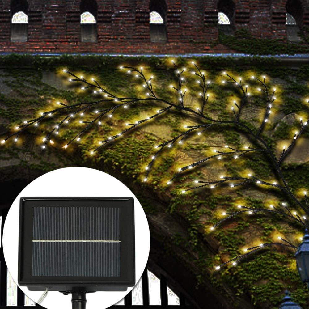 Les Mariages Decdeal Arbre Lumineux LED LED Lumi/ères Solaire de larbre Veilleuses,Branches Noires pour Un Excellent Choix pour Les Vacances Les Anniversaires et Les D/écorations de No/ël