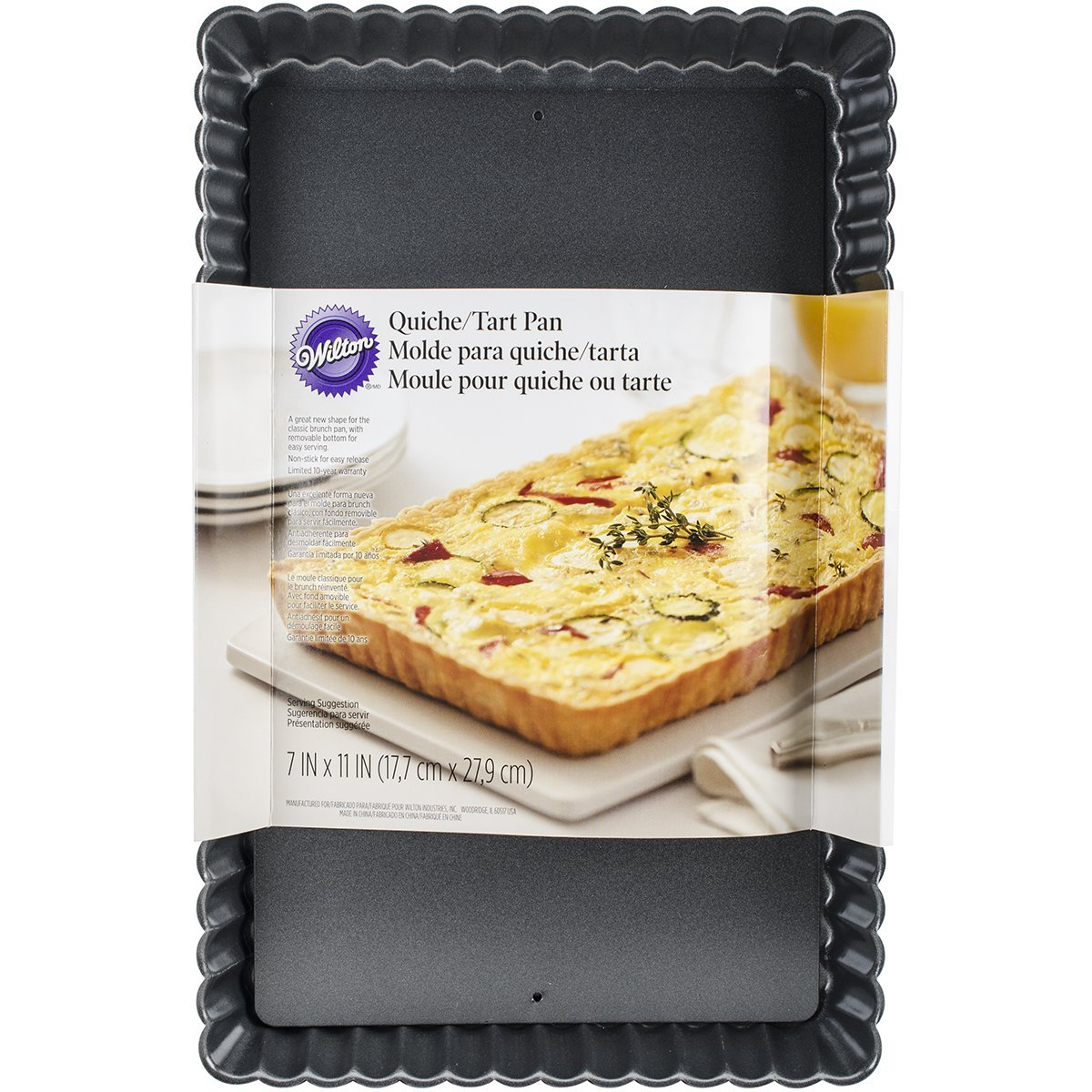 Amazon.com: Wilton 2105-8459 Quiche Tart Pan, 11 x 7-Inch: Kitchen & Dining