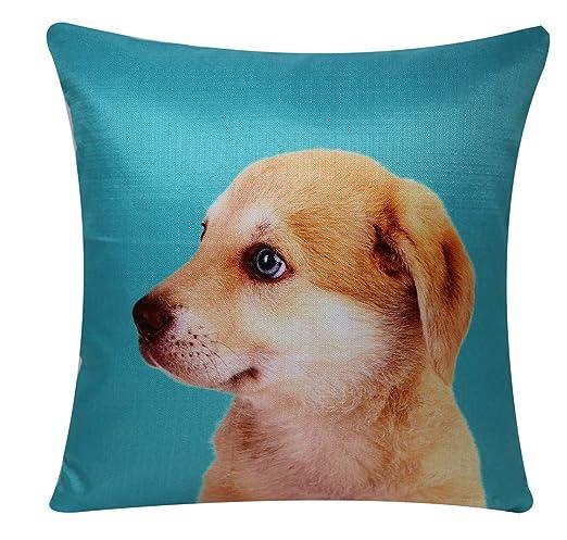 Bullahshah Lindo Labrador Puppy Animal Print Square 17 x 17 ...