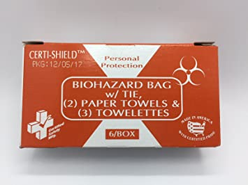 Amazon com: Certi-Shield Biohazard Bag w/tie, Paper Towels