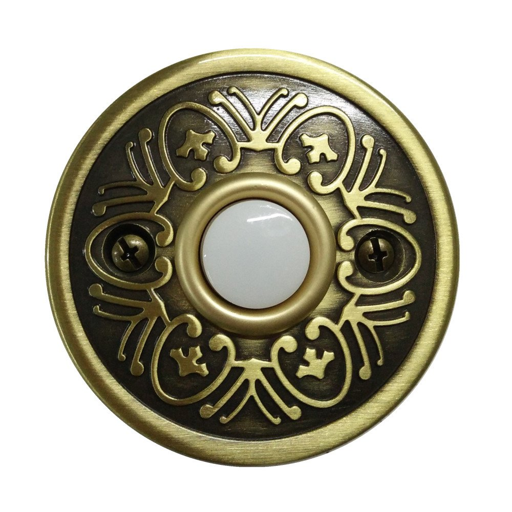 LNJEXN XJ1710 Round Doorbell Button,Antique Brass Finish