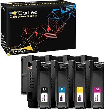 Amazon.com: Cartlee - Juego de 4 cartuchos de tóner láser ...