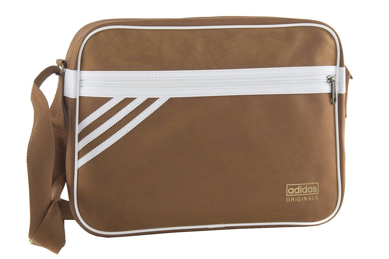 adidas Cartella uomo borsa messenger marrone con tracolla VF215