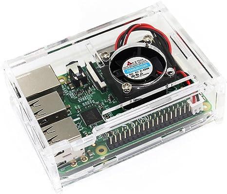 TRIXES Caja Acrílica Transparente con Ventilador de Enfriamiento ...