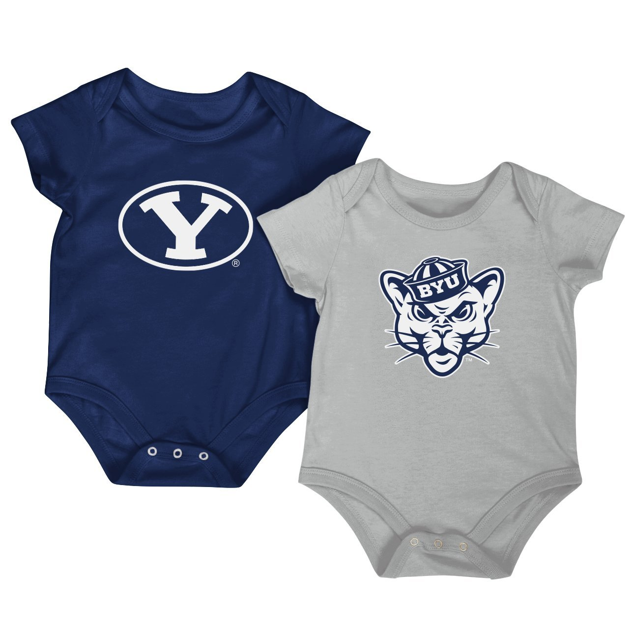 Colosseum NCAA Short Sleeve Baby Bodysuit 2-Pack-Newborn and Infant Sizes