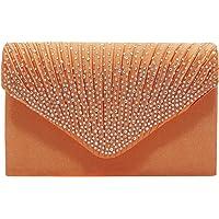 Cckuu Women Satin Bridal Party Envelope Style Clutch Diamante Evening Handbags