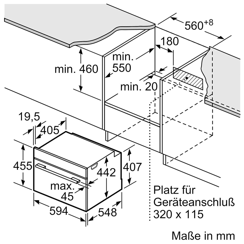 Bosch CMG636BS1 - Horno (Medio, Horno eléctrico, 45 L, 45 L, 30 ...