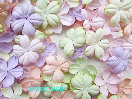 Amazon 100 pcs patch flowers 30x30mm mulberry paper flowers amazon 100 pcs patch flowers 30x30mm mulberry paper flowers scrapbooking wedding doll house supplies card products from thailand mightylinksfo