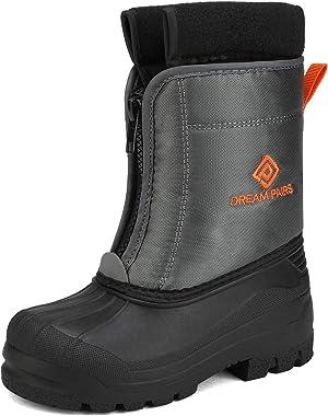 DREAM PAIRS Boys Girls Waterproof Winter Snow Boots