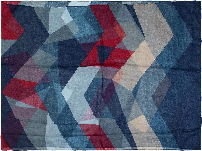 Schlauchschal styleBREAKER Damen Loop Schal mit geometrische Dreieck Zacken Tuch 01017091
