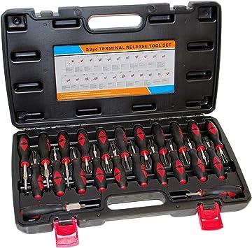 Rotools Entriegelungswerkzeug Iso Kfz Stecker Auspinwerkzeug Lösewerkzeug System Kabel Entriegelung 23 Tlg Auto