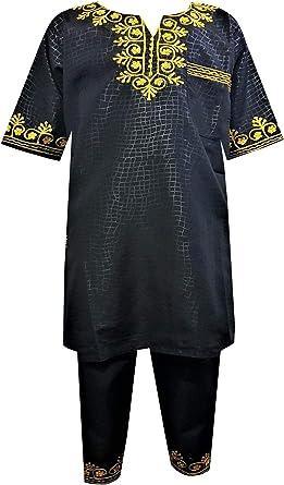 4//5 Mawusi CLothing African Print Ghana Multi Color Kente Boys Pant Suit