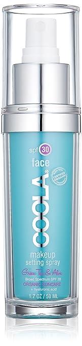 COOLA Organic Suncare,  Green Tea and Aloe Makeup Setting Spray, SPF 30, 1.7 fl. Ounce, Organic Skincare