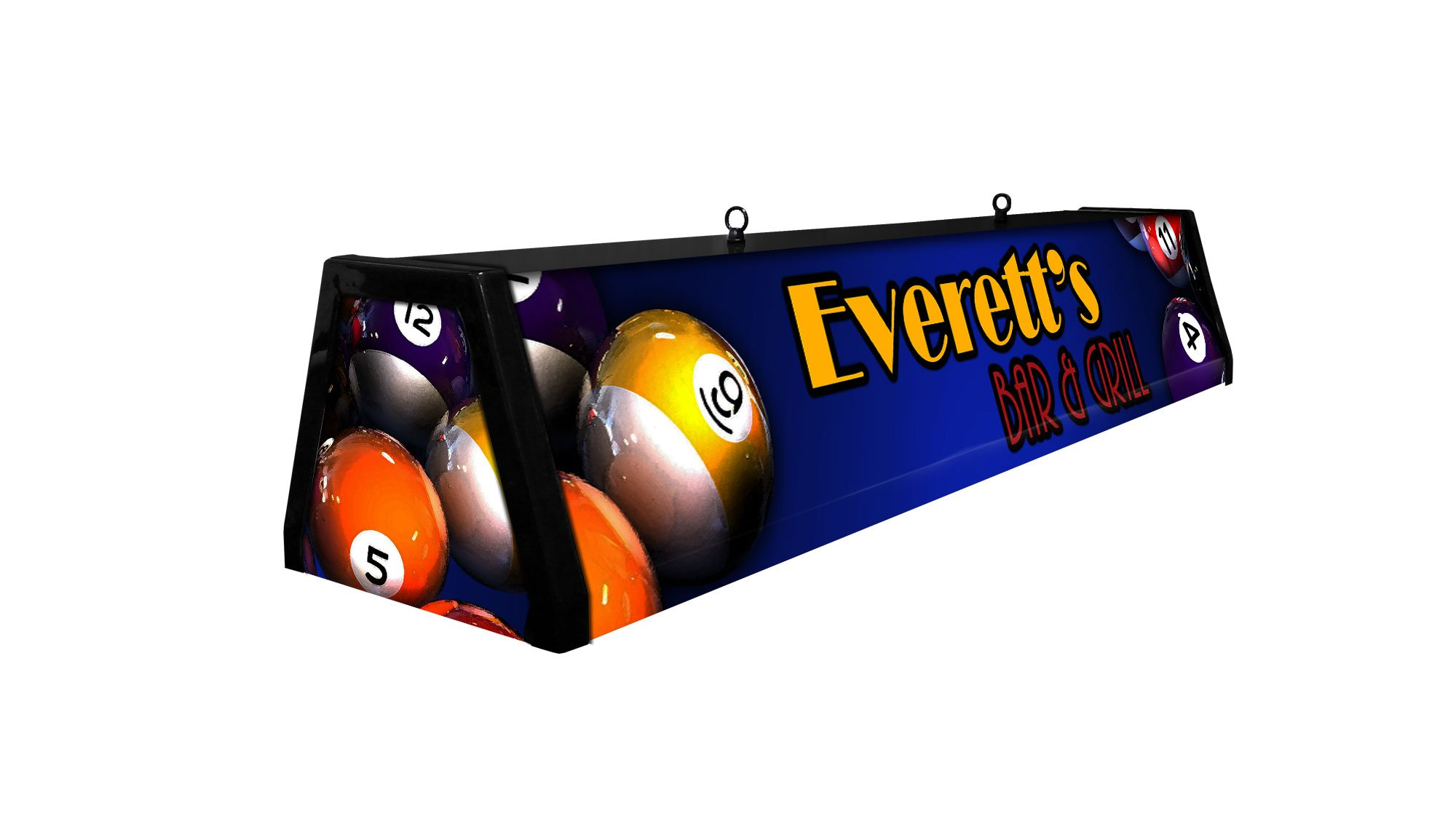44'' Personalized Acrylic Pool Table Light, Custom Classic