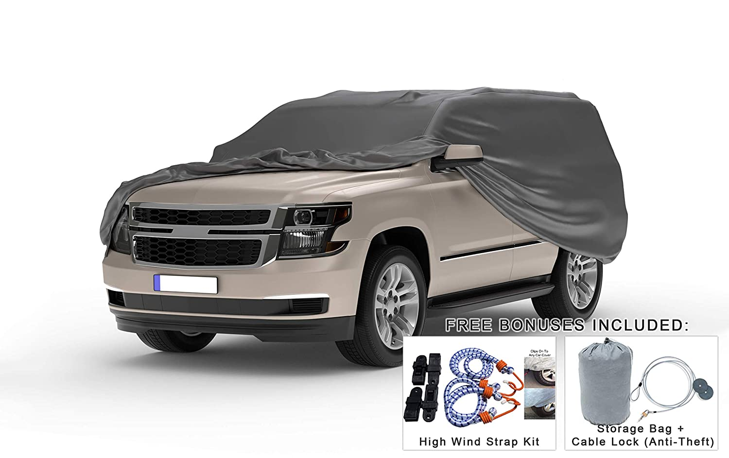 Snow Protect from Rain Weatherproof Truck Cover Compatible with 1947-1955 Chevrolet Advance Design Regular Cab /& Camper Shell Theft Cable Lock Sun Hail Bag /& Wind Straps 5L Outdoor /& Indoor
