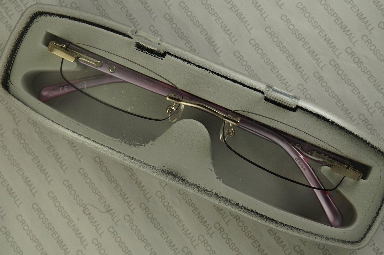 Cross Elite Georgina 1.00 Diopter Purple Tortoise and Silver Rimless Reading Glasses (1.00 Strength)
