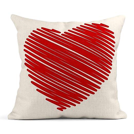 Cojín Pluma de fieltro Corazón de San Valentín Símbolo de ...