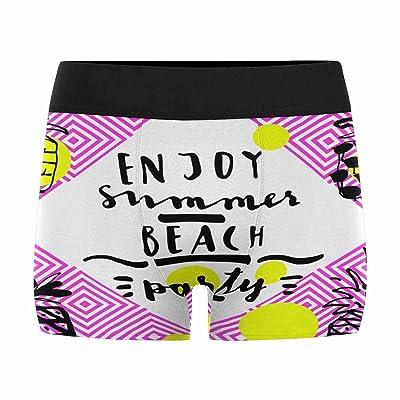 InterestPrint Men's Boxer Briefs Enjoy Summer Beach Party Pineapples