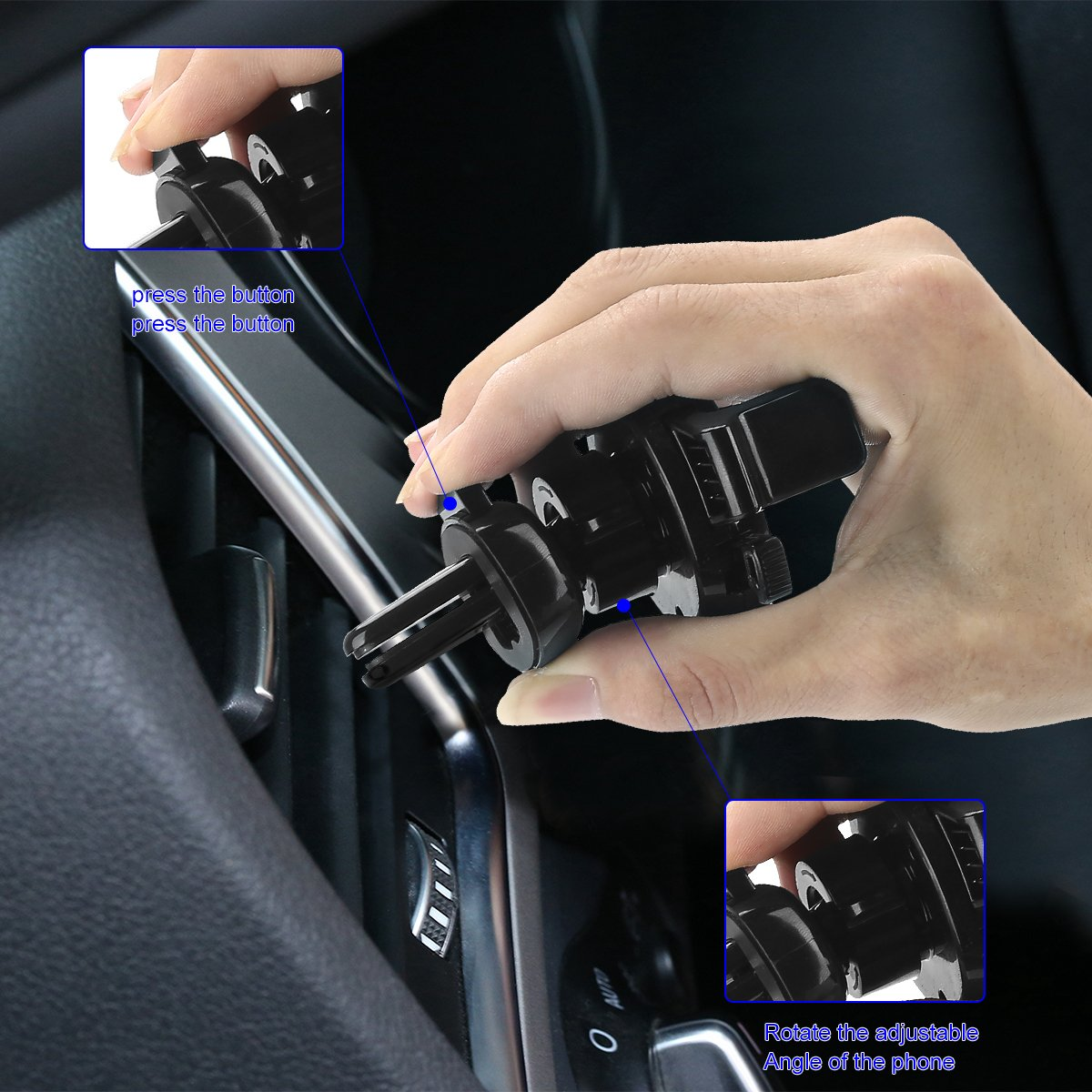 Samsung Galaxy Google Nexus LG and More Between 3.5-6 inches DGM5140 VISNFA Cell Phone Holder for Car Vent Phone Mount New Easy One-Touch Design Super Convenient for iPhone x 8 Plus//7Plus//6s//6Plus//5S