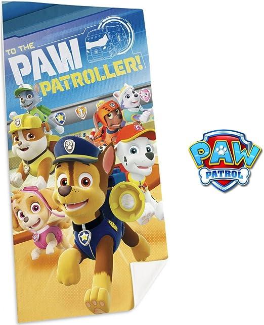 Desconocido Kids Toalla Diseño Paw Patrol, Algodón, Azul, 30x4x30 ...