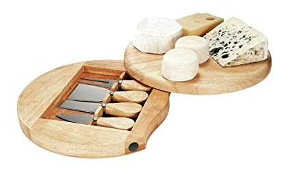 Kitchen Artist Set para Queso con Tabla y 4 Piezas Cuchillos ...