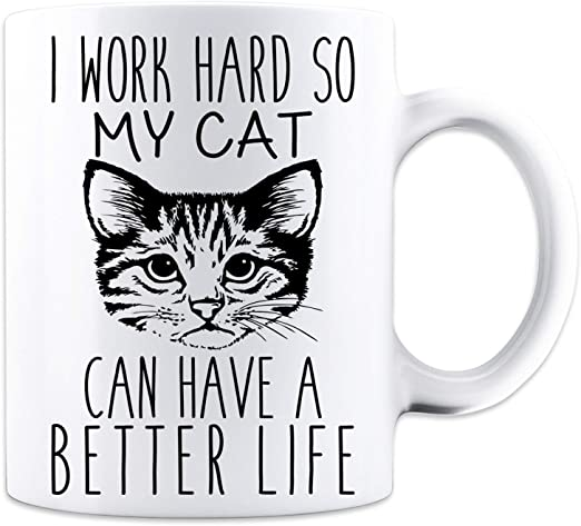 I/'m Happily Owned By A Tabby Cat Novelty Keyring Ideal Present//Gift
