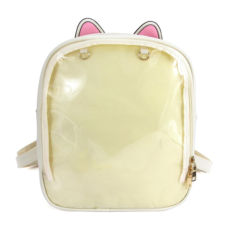 SteamedBun Ita Bag Ears Candy Leather Backpack Transparent Beach Girls School Bag HBAG-01248