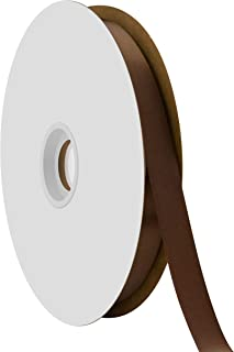 """product image for Offray Berwick 5/8"""" Single Face Satin Ribbon, Brown, 100 Yds"""