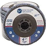 "4.5"" x 7/8"" Premium Zirconia Flap Discs Grinding Wheels 60 Grit Type 27 - 10 Pack"