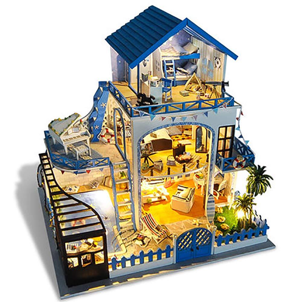 減圧ゲーム, DIY キャビンヴィラエーゲ手作り小さな家モデルおもちゃは女の子のための創造的な誕生日の贈り物を組み立て (オルゴール 減圧ゲーム,、LED DIY ライト B07QZCX8Q2、ダストカバー) B07QZCX8Q2, ペットと暮らす幸せ ハピわん:cd17d1f5 --- m2cweb.com