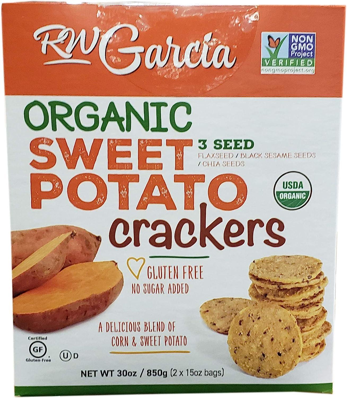 RW Garcia Organic Sweet Potato Cracker (2 X 15 Ounce), 30 Ounce