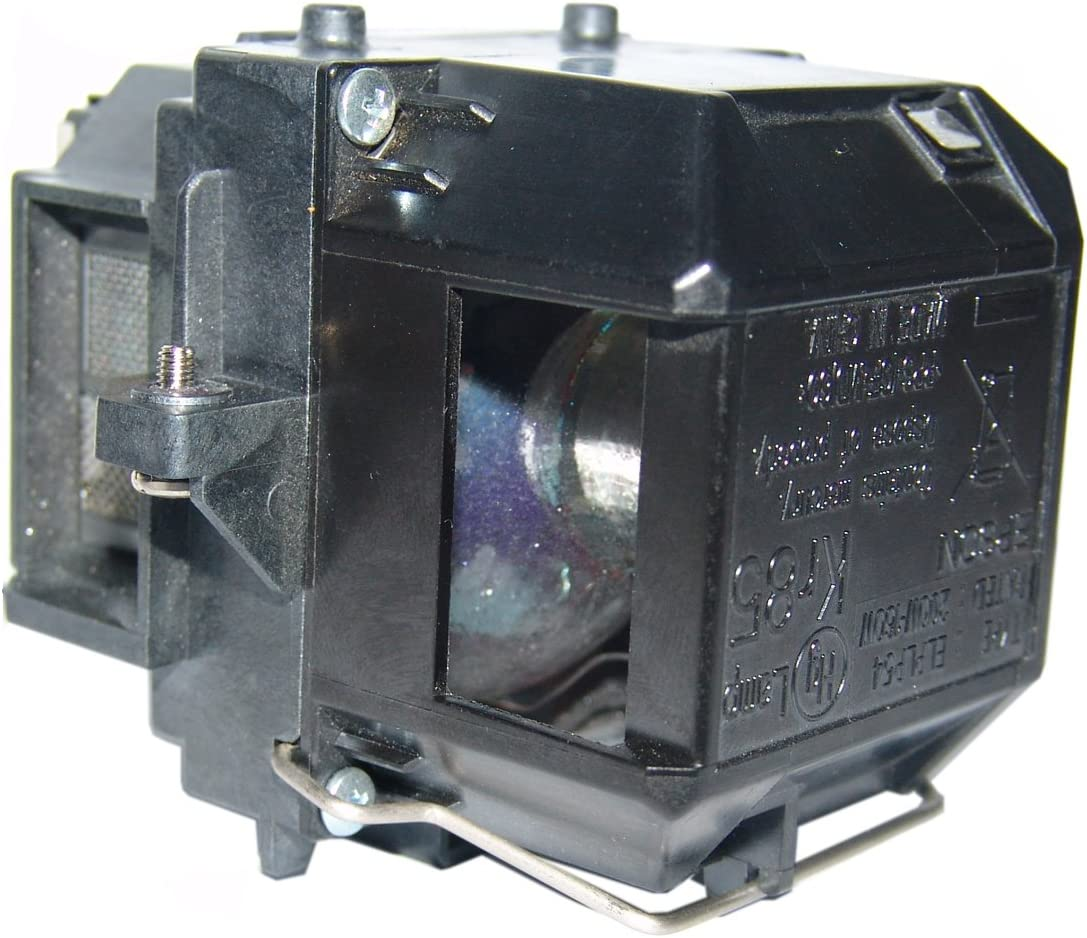 V13H010L54 PowerLite Home Cinema 705HD, PowerLite S7, PowerLite S7+, PowerLite S8, PowerLite W7+, EX31, PowerLite W8+, Pow Compatible for EPSON ELPLP54 AuraBeam Economy Projector Lamp Enclosure