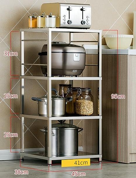 WSSF - Scaffali per cucina Scaffali di stoccaggio in acciaio inox in ...
