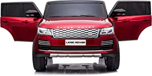 Limited Edition Authorized 12V10Ah Two Motor Range Rover Electric Ride On Car for Babies and Kids Two Seater -Painted Red Wine