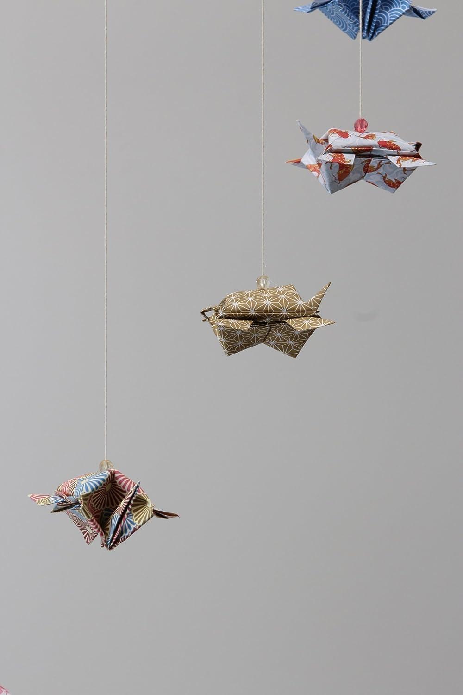 Móvil de viento de Tortugas origami, Papiroflexia decoración ...