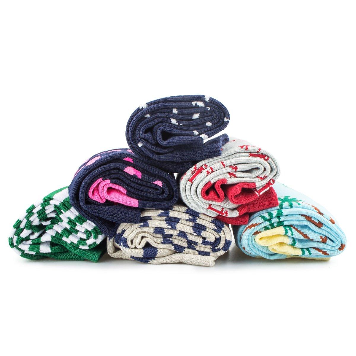 Tutast Men\'s Cotton Dress Socks Funny Socks - Fashion Colorful Patterned Crew Socks for Men, Size 7-13 (Fishhook)