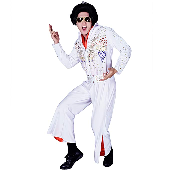 70s Costumes: Disco Costumes, Hippie Outfits Mens 60s 70s Disco Party Costume White $29.25 AT vintagedancer.com