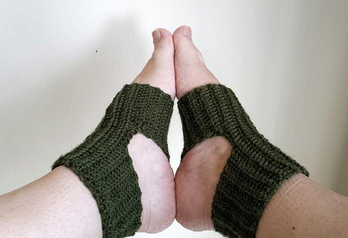 Amazon Com Handmade Yoga Or Pilates Socks Wool Rayon Bamboo And