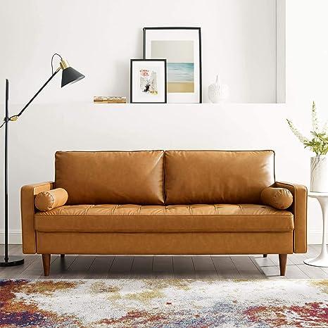 Superb Amazon Com Modway Eei 3765 Tan Valour Upholstered Faux Customarchery Wood Chair Design Ideas Customarcherynet
