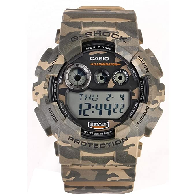 1e469309f46e Amazon.com  Casio G Shock GD-120CM-5ER G-Shock Uhr Watch Montre Camo Pack  limited Edition  Casio  Watches