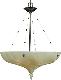"product image for Framburg 3475 MB 4-Light Giselle Dining Chandelier, 103"" x 24.5"" x 31"", Mahogany Bronze"
