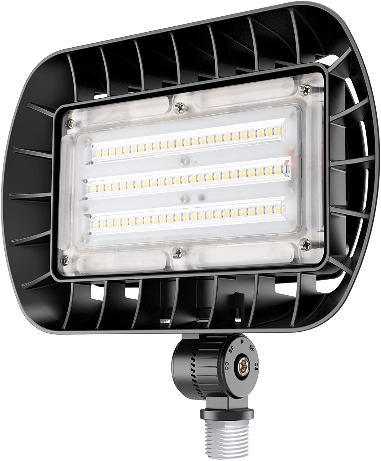 bulbeats Durable 50W LED Flood Light with Knuckle Mount, 5500LM Super Bright, 5000K Daylight, IP65 Waterproof Security Light for Outdoor Security Lighting: Home Improvement