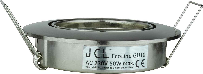 Cadre de montage sans ampoule spot /à encastrer Lot de 5 argent JCL Eco Line GU10 encastrable Anneau Orientable