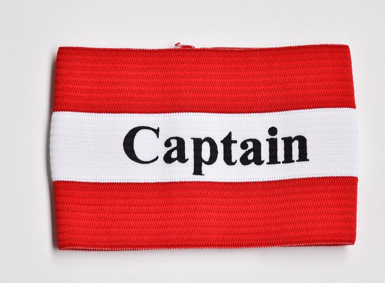Kapitänsbinde, Spielführerbinde Fußball mit Aufdruck (rot/weiß) Kapitänsbinde Rucanor