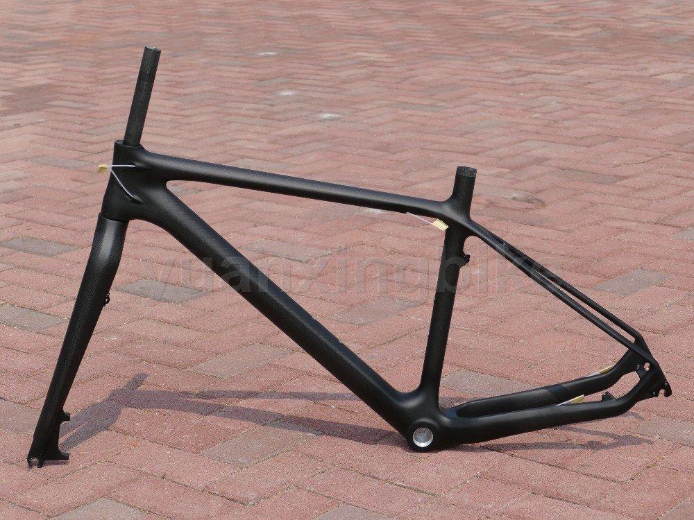 207# Toray Carbon MTB Frame Full Carbon 3K Glossy Mountain Bike 26ER BB30 Frame 17' Fork Headset