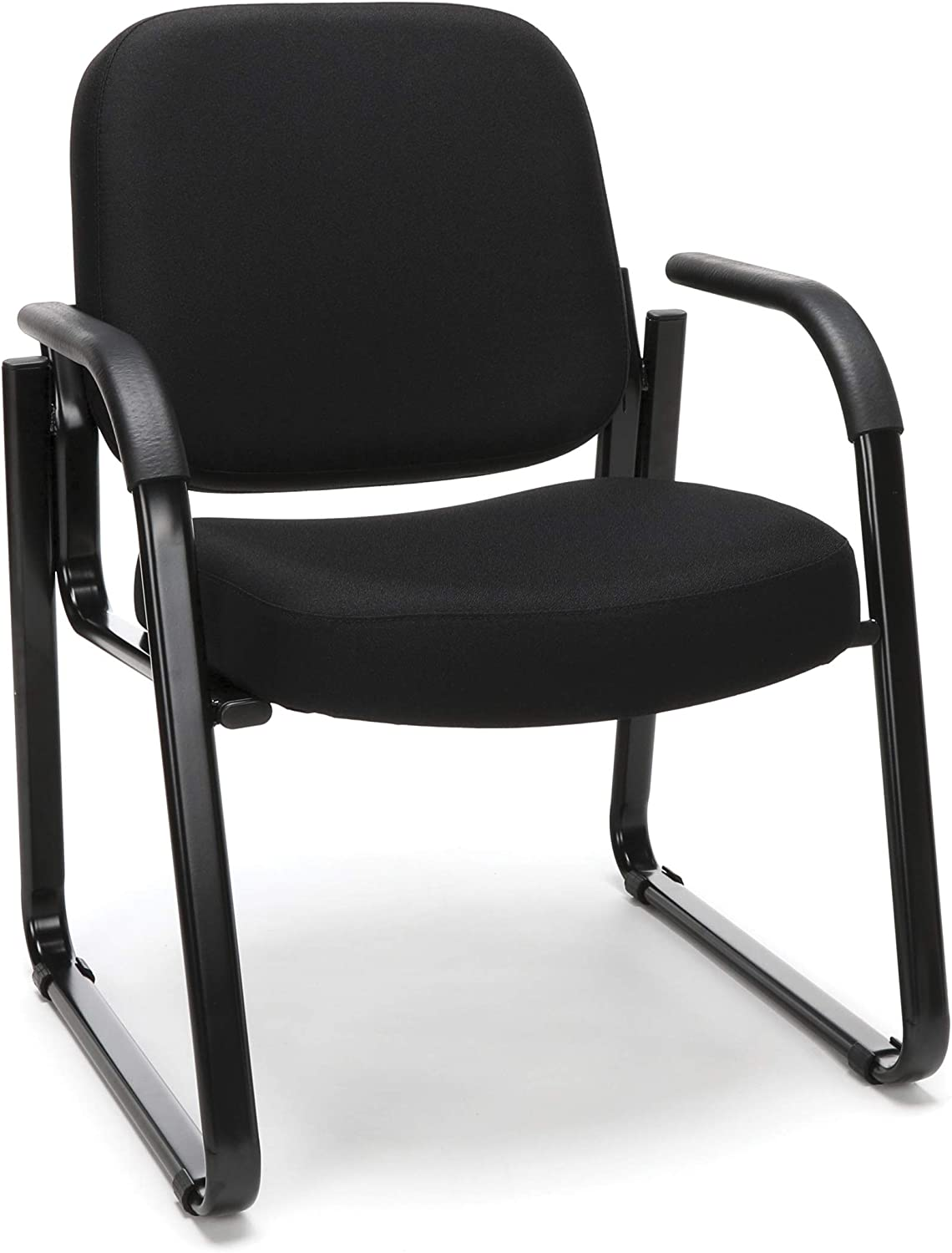 OFM Core Collection Fabric Guest and Reception Chair with Arms and Extra Thick Cushion, in Black