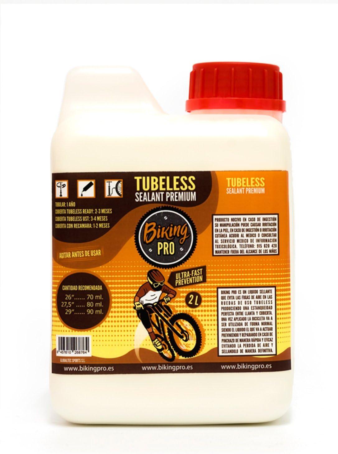 Biking Pro liquido tubeless 2L antipinchazos. Gama Premium: Amazon ...