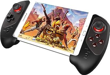 Finewlo Wireless Android Gamepad, Mobile Gaming Controller Palanca de mando para PUBG Fotnite con soporte telescópico de 5: Amazon.es: Electrónica
